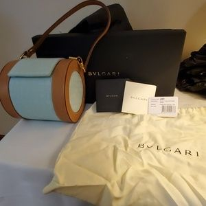 Light blue Bvlgari B Zero flap bag